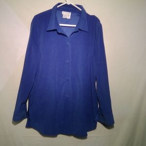 great cavalier - bright blue- button top XL - #80